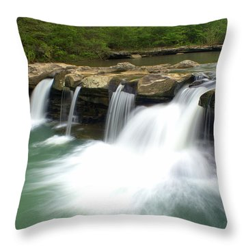 King River Falls Throw Pillow by Marty Koch