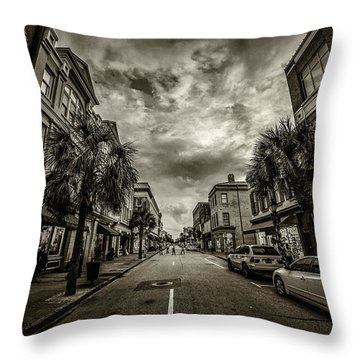 King St. Storm Clouds Charleston Sc Throw Pillow
