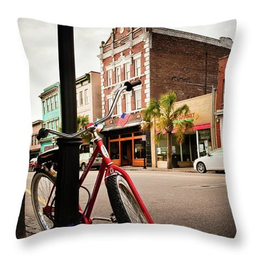 King Street Charleston Sc  -7436 Throw Pillow