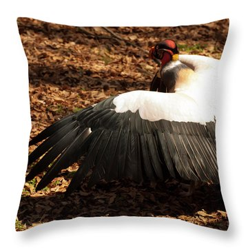 King Vulture 2 Strutting Throw Pillow by Chris Flees