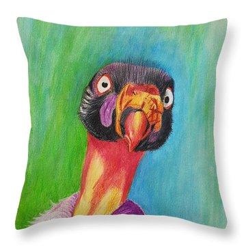 King Vulture  Throw Pillow