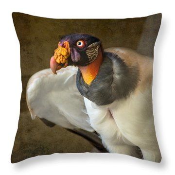 King Vulture Throw Pillow by Jamie Pham