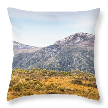 King William Range. Australia Mountain Panorama Throw Pillow