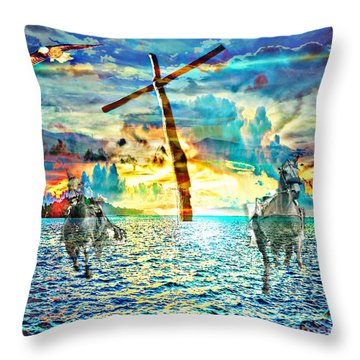 Throw Pillow featuring the digital art Kingdom Come by Jessica Eli
