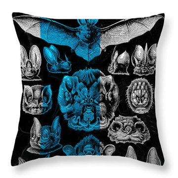 Throw Pillow featuring the digital art Kingdom Of The Silver Bats by Serge Averbukh