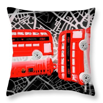 Kingdom Of United Touring Charms  Throw Pillow
