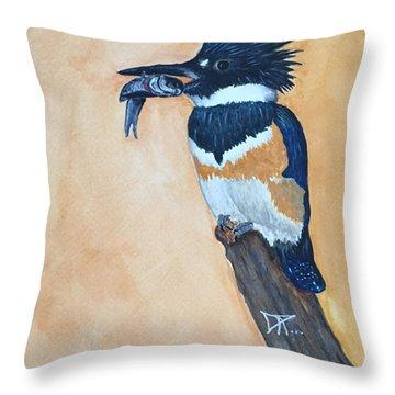 Kingfisher-2 Throw Pillow