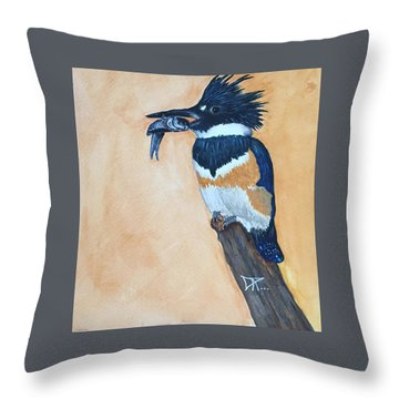 Kingfisher-2 Throw Pillow
