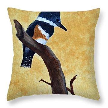 Kingfisher No. 1 Throw Pillow