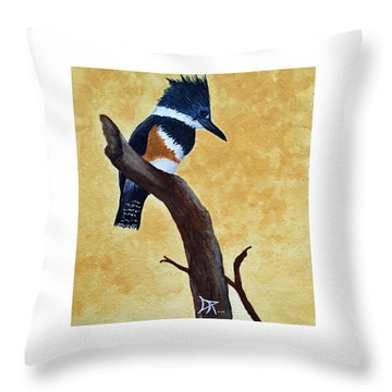 Kingfisher No. 1 Throw Pillow