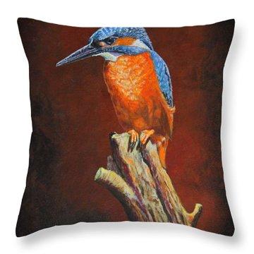 Kingfish.....waiting For Dinner Throw Pillow