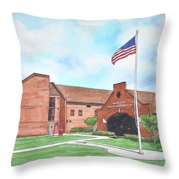 Kings Bay Marine Corps Security Force Battalion Throw Pillow