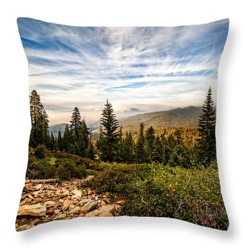 King's Canyon Crown Throw Pillow