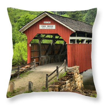 Kings Covered Bridge Somerset Pa Throw Pillow