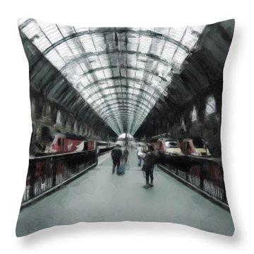 Kings Cross London Throw Pillow by Gillian Dernie