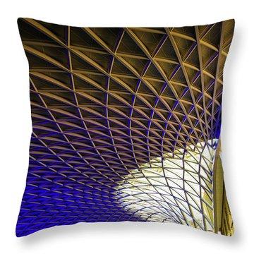 Kings Cross Railway Station Roof Throw Pillow