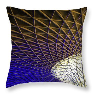 Throw Pillow featuring the photograph Kings Cross Railway Station Roof by Matthias Hauser