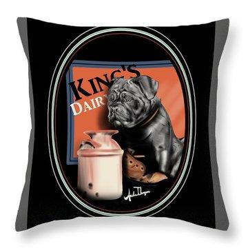 King's Dairy  Throw Pillow