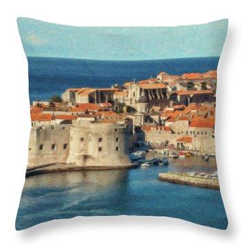 Kings Landing Dubrovnik Croatia - Dwp512798 Throw Pillow