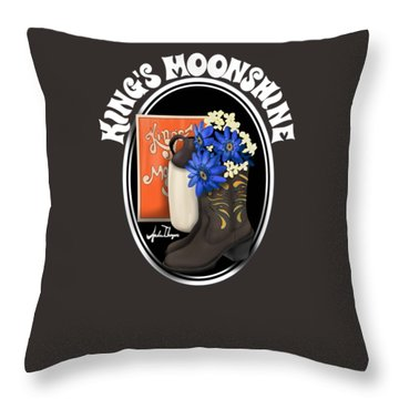 King's Moonshine  Throw Pillow