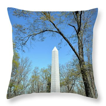 Kings Mountain National Military Park Monument Throw Pillow by Bruce Gourley