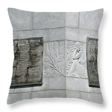 Kings Mountain Plaques Throw Pillow by Bruce Gourley