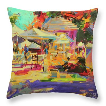 King's Point, Bermuda Throw Pillow