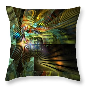 Throw Pillow featuring the digital art Kings Ransom by NirvanaBlues