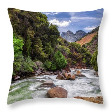 Kings River Throw Pillow