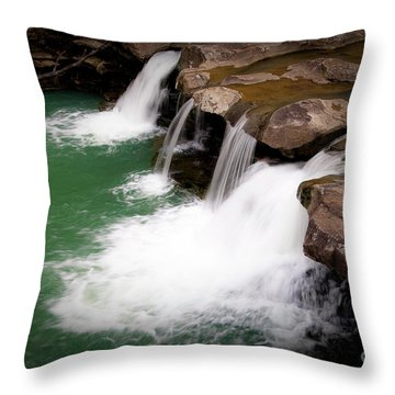 Kings River Falls Throw Pillow by Tamyra Ayles