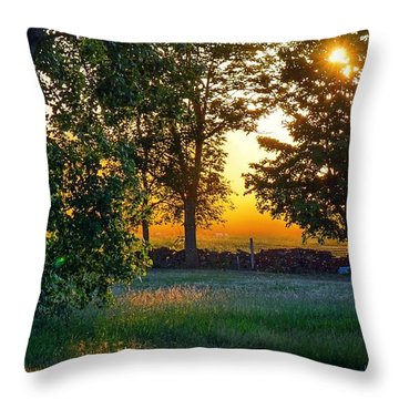 Throw Pillow featuring the photograph Kingsbury Sunset by Kendall McKernon