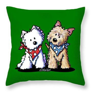 Kiniart Butch And Sundance Throw Pillow