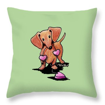 Kiniart Heartstrings Doxie Throw Pillow
