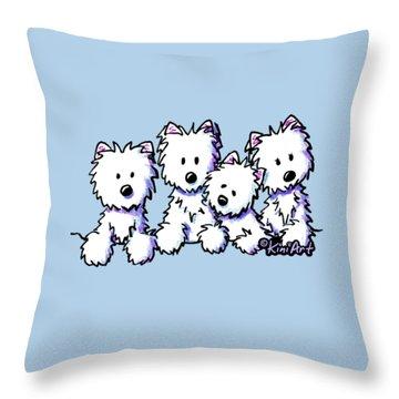 Kiniart Pocket Pawsse Throw Pillow by Kim Niles