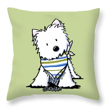 Kiniart Westie Terrier Throw Pillow