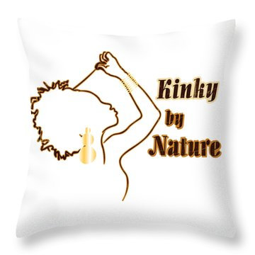 Kinky By Nature Throw Pillow by Rachel Natalie Rawlins