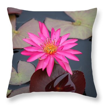 Kinky Stamens Throw Pillow