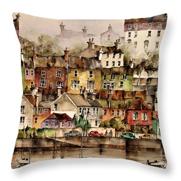F 906  Kinsale Harbour. Cork Throw Pillow