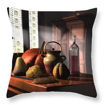 Kinzeliin Still Life 1 Throw Pillow