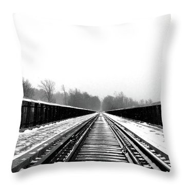 Kinzua Bridge Skywalk Throw Pillow