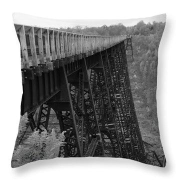 Kinzua Skywalk Throw Pillow