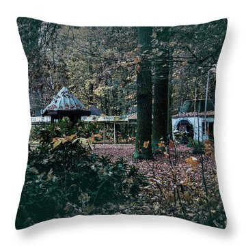 Kiosk Throw Pillow