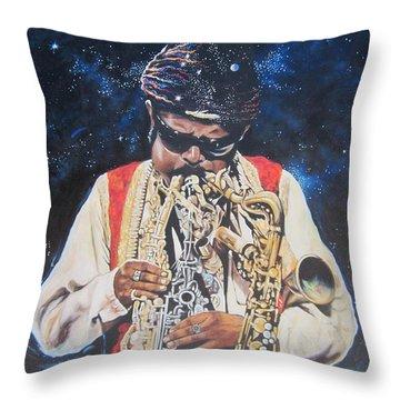 American History. .  Rahsaan  Roland Kirk  Throw Pillow