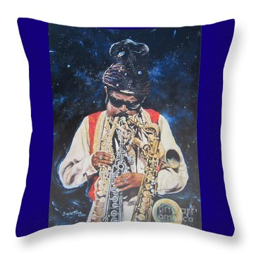 American History. .  Rahsaan  Roland Kirk  Throw Pillow