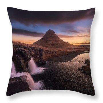 Kirkjufell Sunrise Throw Pillow