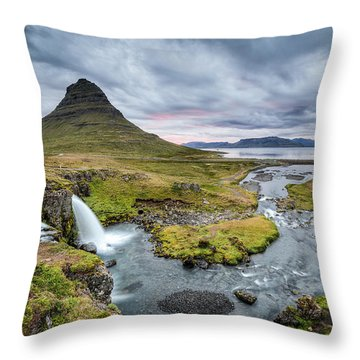 Kirkjufellsfoss 1 Throw Pillow