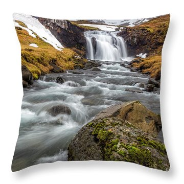 Kirkjufellsfoss Sibling  Throw Pillow