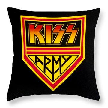 Kiss Army Throw Pillow