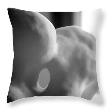 Kiss In Progress Throw Pillow by Nathan Larson