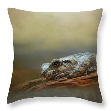 Throw Pillow featuring the photograph Kiss Me by Steven Richardson